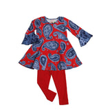 Kacey Tunic Set Denim Paisley - Three Friends Apparel