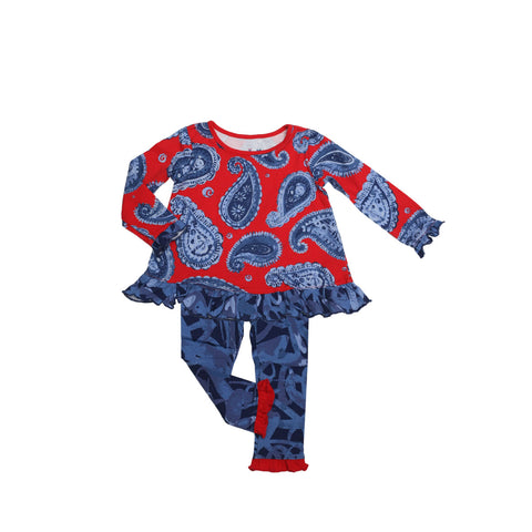 Allie Baby Legging Set Denim Paisley - Three Friends Apparel