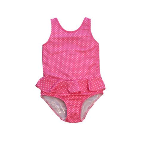 Evrynn One Piece Ruffle Swimsuit Pink Pinned - Three Friends Apparel