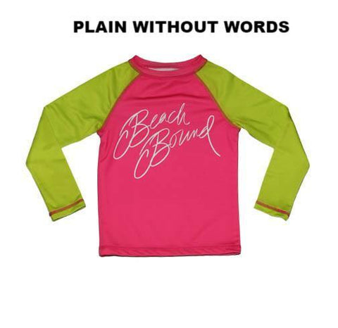 Zahra RashGuard PINK AND LIME - Three Friends Apparel