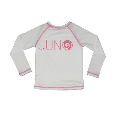 Zahra RashGuard WHITE - JUNO - Three Friends Apparel