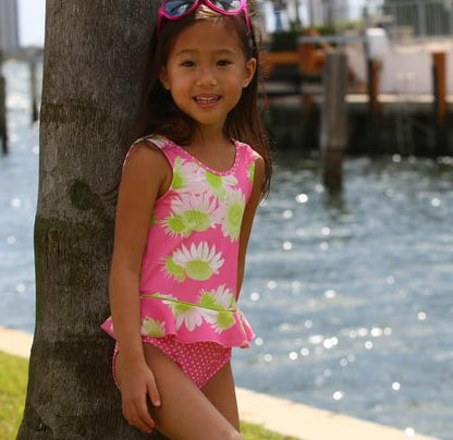 Evrynn One Piece Ruffle Swimsuit Darling Daisy