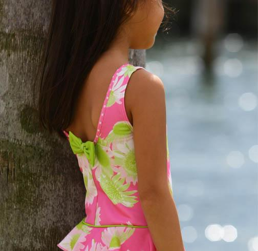 Evrynn One Piece Ruffle Swimsuit Darling Daisy - Three Friends Apparel