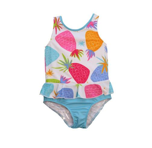 Evrynn One Piece Ruffle Swimsuit Pineapple - Three Friends Apparel