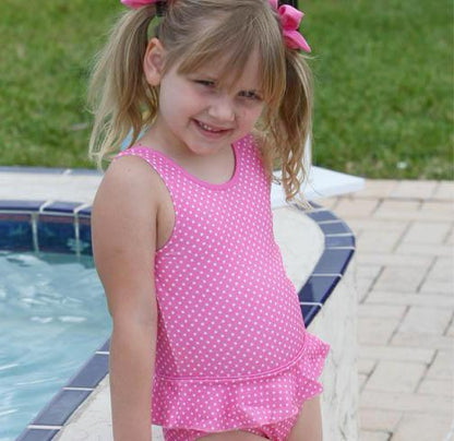 Evrynn One Piece Ruffle Swimsuit Pink Pinned