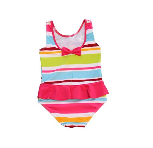 Evrynn One Piece Ruffle Swimsuit Aloha Stripe - Three Friends Apparel