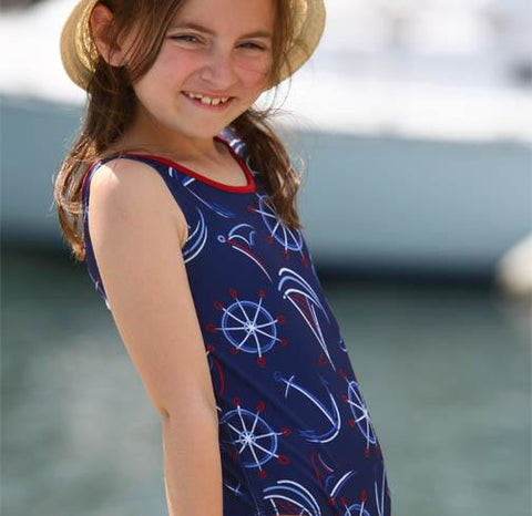 Jacen One Piece Bathing Suit SMOOTH SAILS - Three Friends Apparel