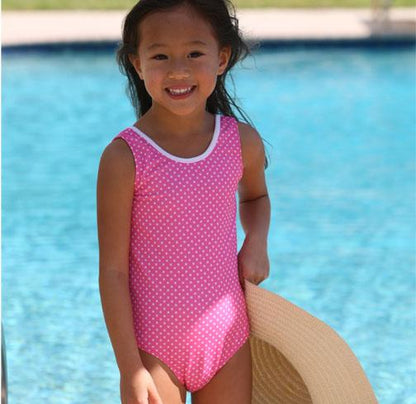 Jacen One Piece Bathing Suit PINK PINNED