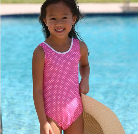 Jacen One Piece Bathing Suit PINK PINNED - Three Friends Apparel