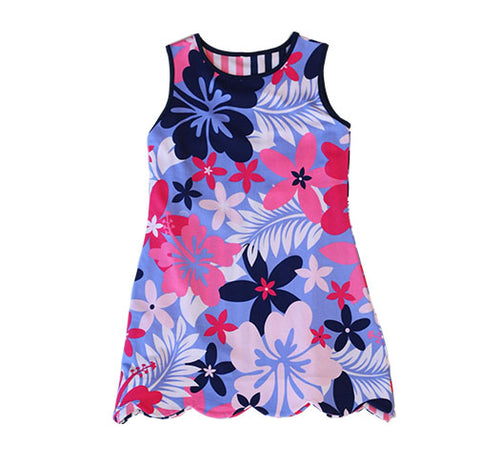 K!K! Beguiled Hibiscus Flower Reversible Dress - Three Friends Apparel