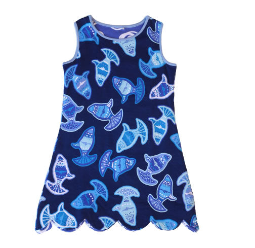 K!K! Voyager Reversible Dress - Three Friends Apparel