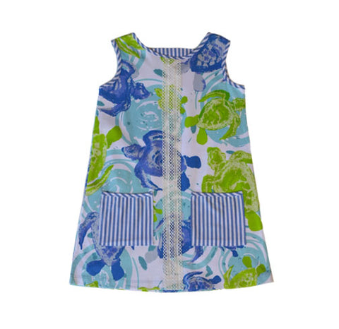 PollyAnna Sea Turtles Dress - Three Friends Apparel