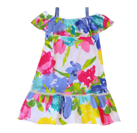 Cindy Fascination Floral Dress - Three Friends Apparel