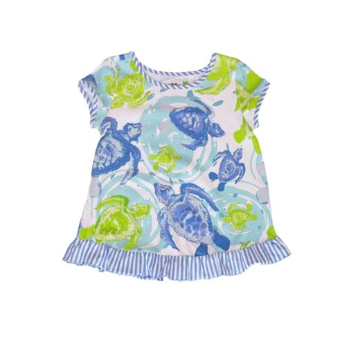 Summer Sea Turtles Swing Top - Three Friends Apparel