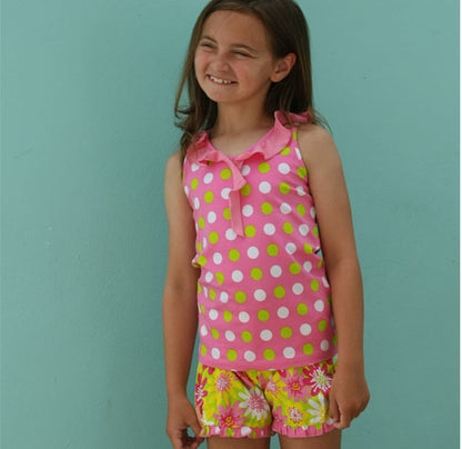 Taylor 2 pc Smitten Dot Short Set with Enchanted Daisy Little Truffle Short