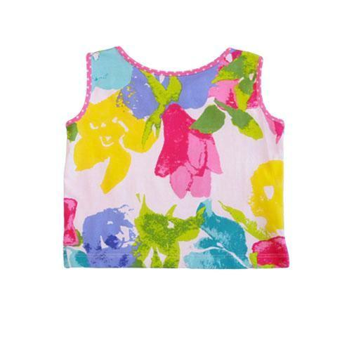 Ari Fascination Floral Bow Back Top - Three Friends Apparel