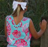 Ari  SeaShell Bow Back Top - Three Friends Apparel