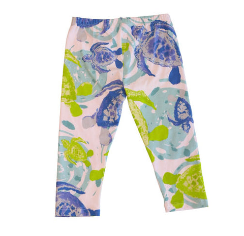 Sweet Pea Capri Sea Turtles - Three Friends Apparel