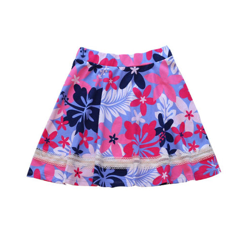 Anna Skort Beguiled Hibiscus - Three Friends Apparel