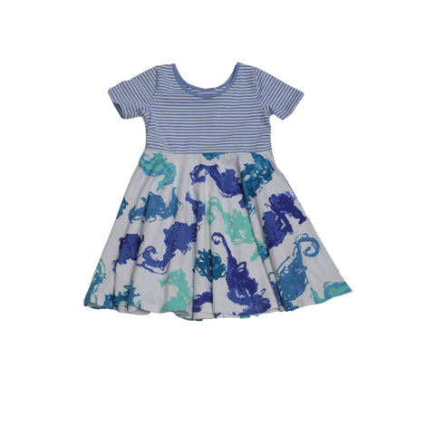 Angel Cake Seahorsies Dress - Three Friends Apparel