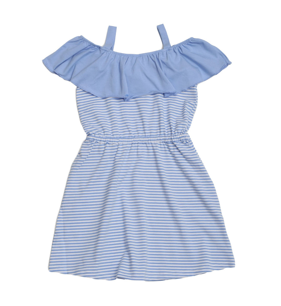 Cindy Peri Stripe Dress - Three Friends Apparel