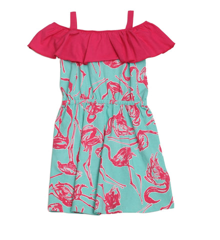 Cindy Wild Flamingo Dress - Three Friends Apparel
