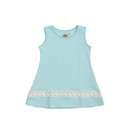 Lola Aqua Stripe Swing Tunic - Three Friends Apparel