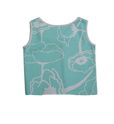 Ari Aqua Meadows Bow Back Top