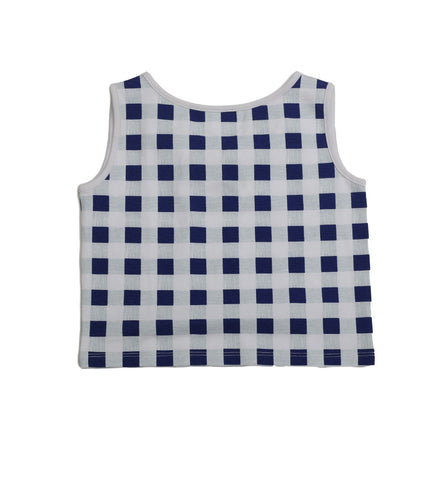 Ari Gingham Bow Back Top - Three Friends Apparel