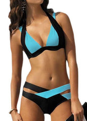 Strappy Two Color Swimsuit