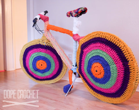 Bike Yarn Bomb - Dope Crochet