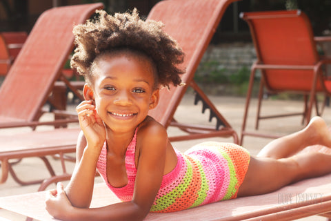 Girls Crochet Swimsuit