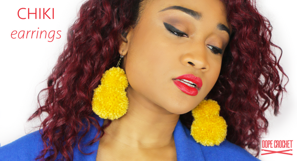 CHIKI Pom Earrings