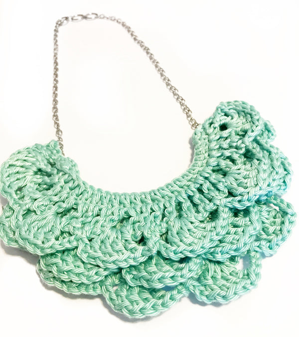 Crochet Bib Necklace - Crochet Layered Necklace