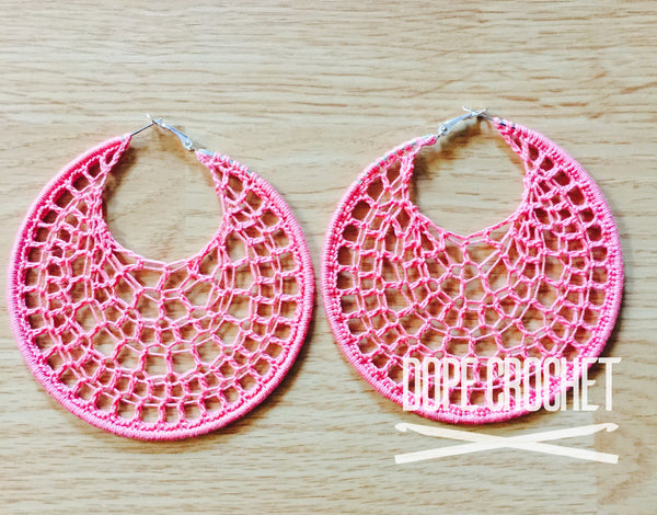 DIDO Webbed Hoops in French Rose