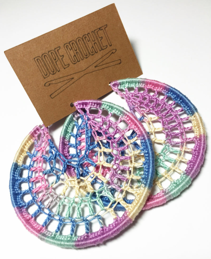 DIDO Webbed Hoops in Pastel Ombre