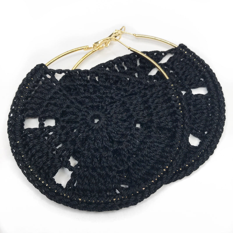 LUDA Crochet Hoop Earrings