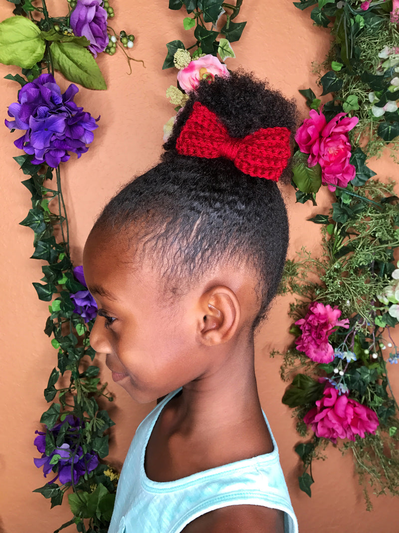 Crochet Hair Bows - Crochet Bow Clips