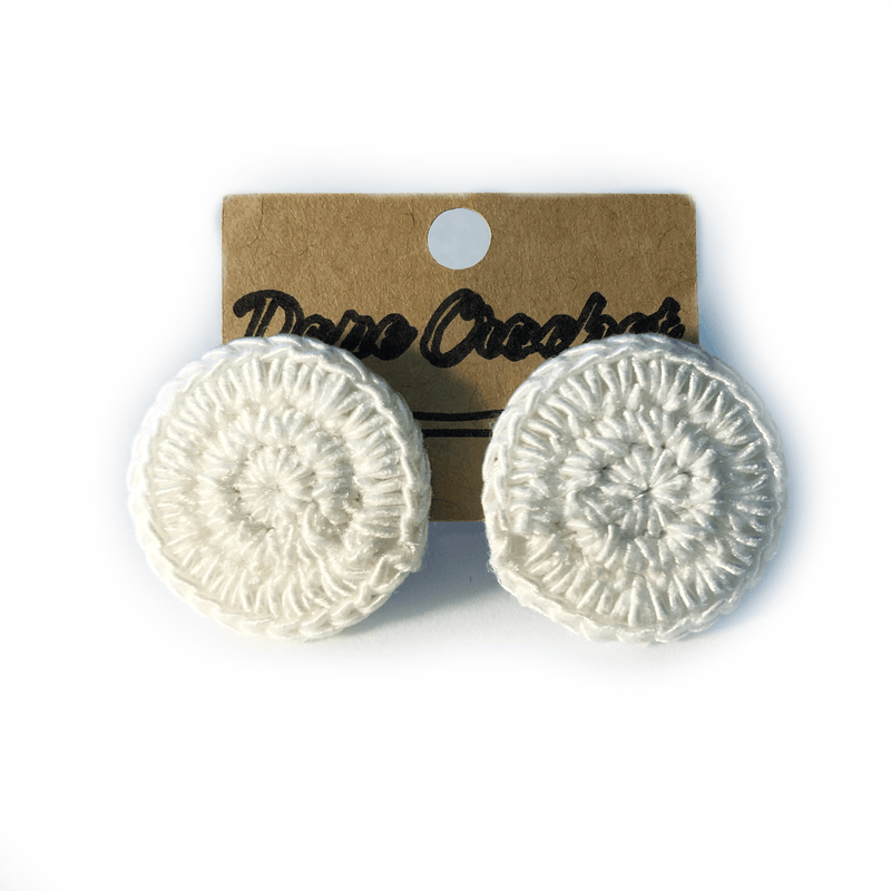 EMI Crochet button earrings