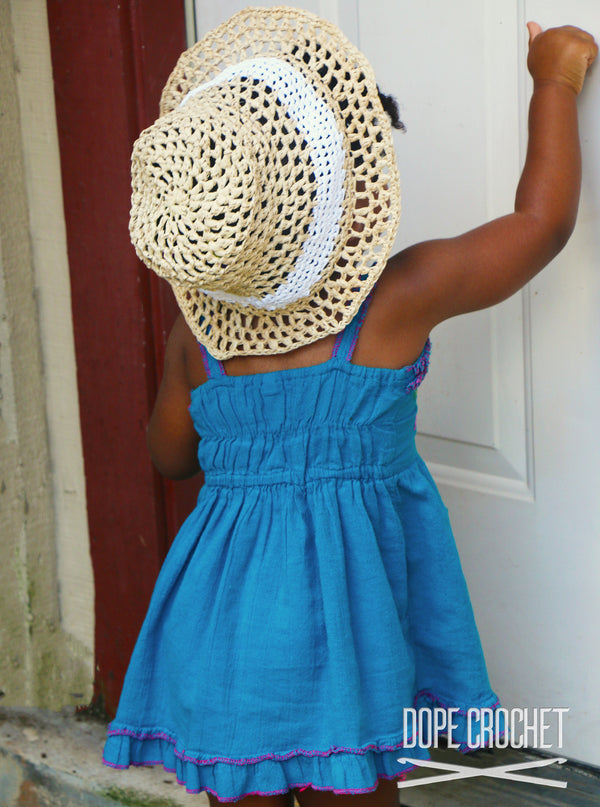 Crochet Sun Hat for Kids