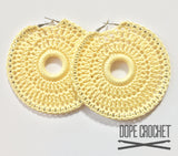 Izzy Crochet Hoop Earrings