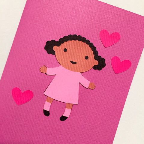 Little Lady Loves You Card