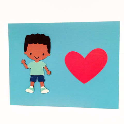 Little Man Loves You Card