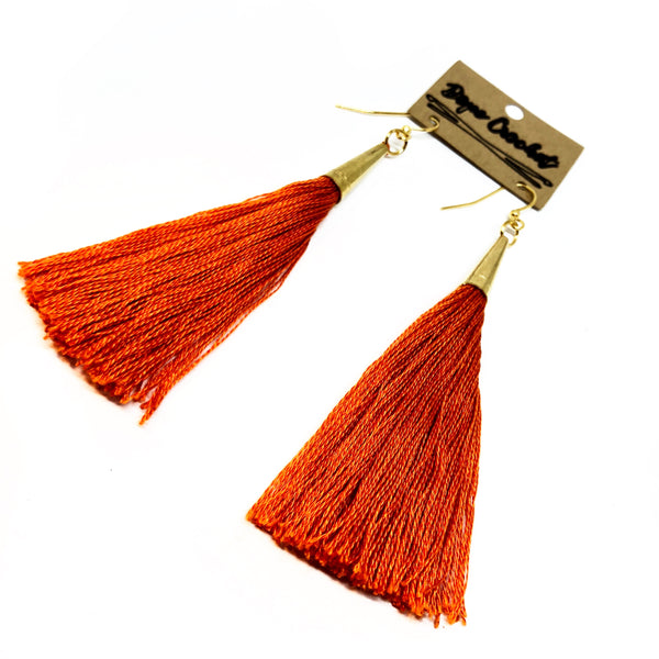 Long Tassel Earrings - Handmade Tassel Earrings - Tassels