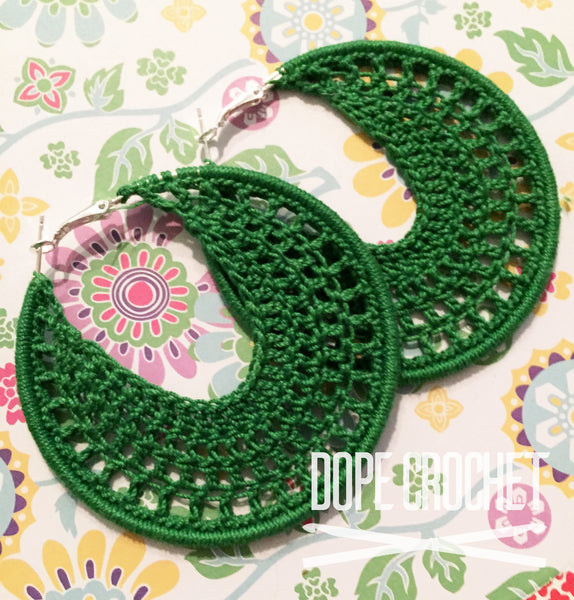 NELLE Crochet Hoop Earrings