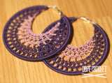 NELLE Hoops in Purple & Lavender