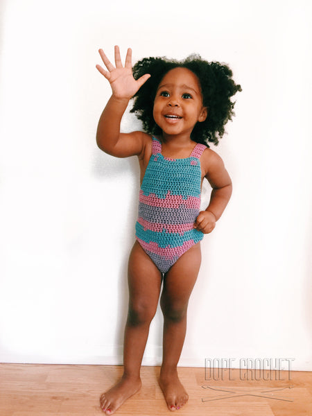 Toddler Crochet Swimsuit