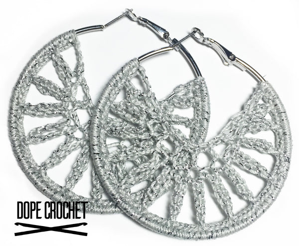 OMEGA Crochet Hoop Earrings