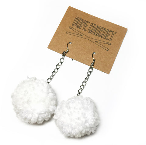 Small POM POM Earrings