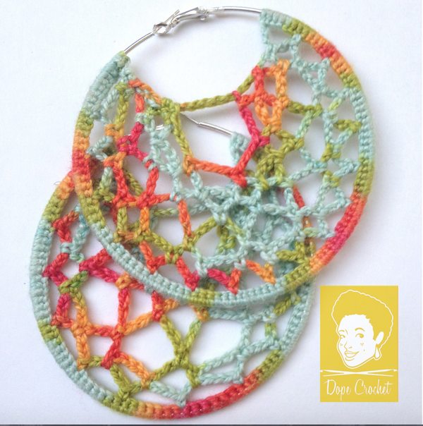 RITA Crochet Hoop Earrings